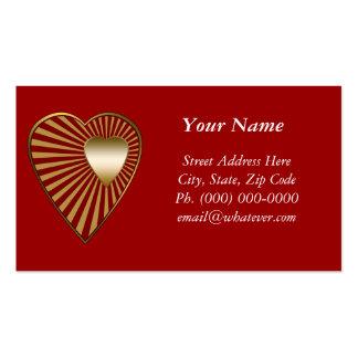 Corazón de oro tarjetas de visita
