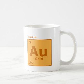Corazón de oro taza de café