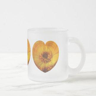 Corazón de oro tazas de café