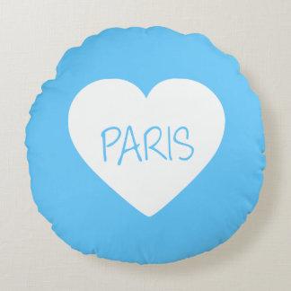 Corazón de París del amor Cojín Redondo