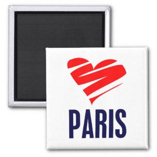 Corazón de París Iman De Frigorífico