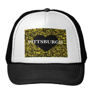 Corazón de Pittsburgh Gorras De Camionero