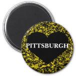 Corazón de Pittsburgh Imán Redondo 5 Cm