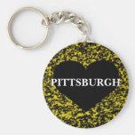 Corazón de Pittsburgh Llavero Personalizado