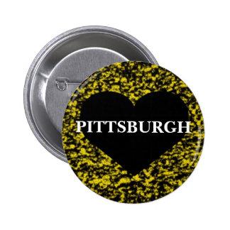Corazón de Pittsburgh Pin Redondo 5 Cm