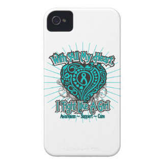 Corazón de PKD que lucho como un chica iPhone 4 Case-Mate Carcasa