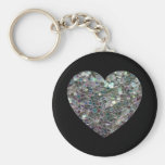 Corazón de plata colorido brillante adaptable del  llavero