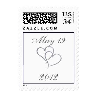 Corazón de plata con las iniciales - diy - 32 cent