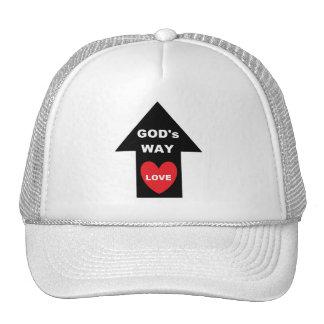 Corazón de plata de la flecha de amor de la manera gorras de camionero