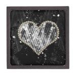 Corazón de plata de la perla caja de recuerdo de calidad