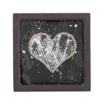 Corazón de plata de la perla cajas de regalo de calidad