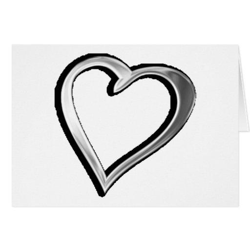 Corazón de plata felicitación