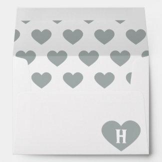 Corazón de plata grande - monograma