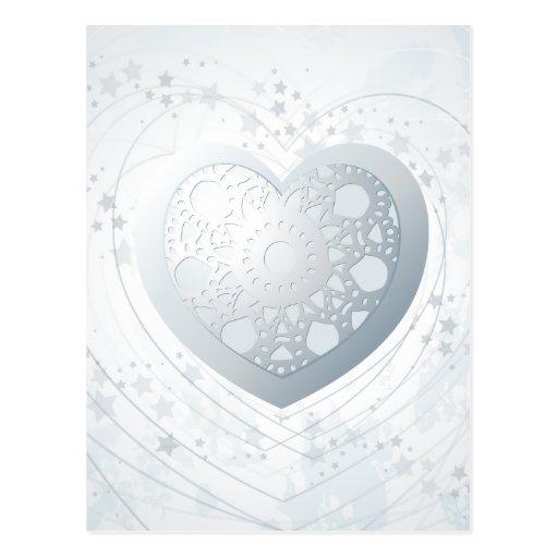 Corazón de plata, postal