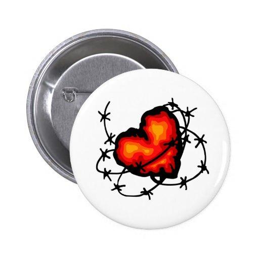 Corazón de púas pins