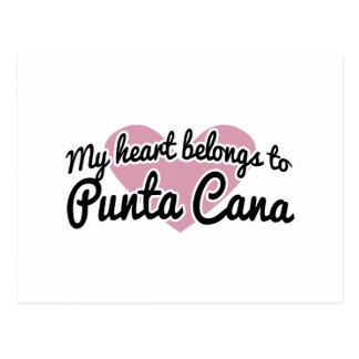 Corazón de Punta Cana Tarjetas Postales
