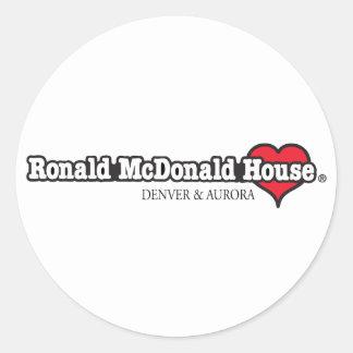 Corazón de Ronald McDonald Pegatinas Redondas