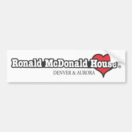 Corazón de Ronald McDonald Pegatina De Parachoque