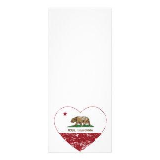 corazón de ross de la bandera de California apenad Invitación Personalizada