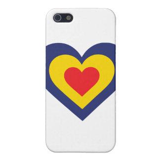Corazón de Rumania iPhone 5 Fundas