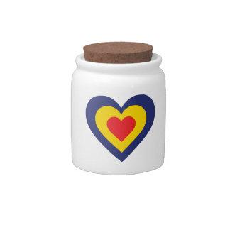 Corazón de Rumania Platos Para Caramelos