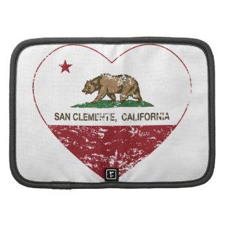 corazón de San Clemente de la bandera de Californi Organizadores