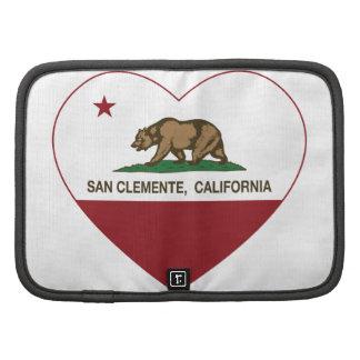 corazón de San Clemente de la bandera de Californi Organizador