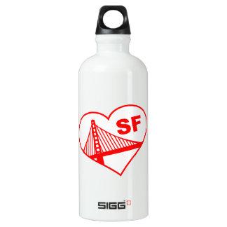 Corazón de San Francisco del amor Botella De Agua