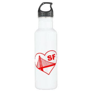 Corazón de San Francisco del amor Botella De Agua De Acero Inoxidable