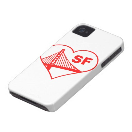 Corazón de San Francisco del amor iPhone 4 Case-Mate Carcasa