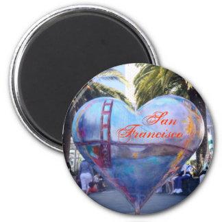 Corazón de San Francisco Imanes De Nevera