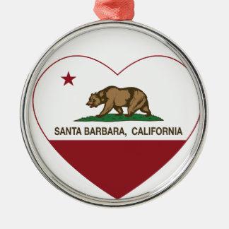 corazón de Santa Barbara de la bandera de Californ Ornato