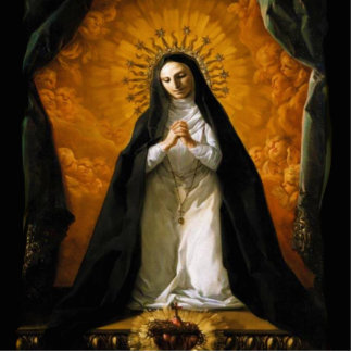 Corazón de Santa Margarita Maria Alacoque - Fotoescultura Vertical