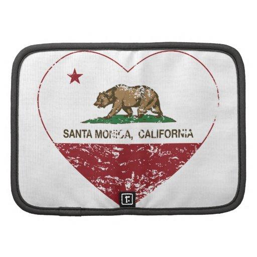 corazón de Santa Mónica de la bandera de Californi Planificadores