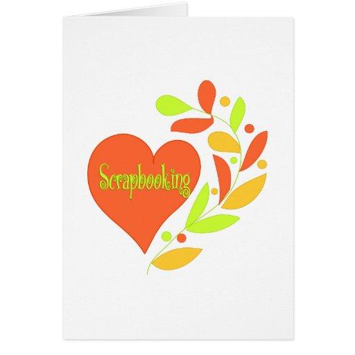 Corazón de Scrapbooking Felicitacion
