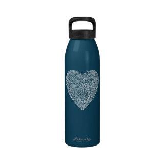 Corazón de Scribbleprint Botella De Agua Reutilizable
