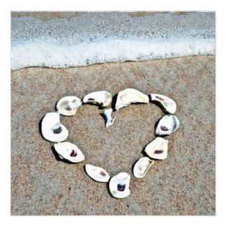 Corazón de Seashells en la ducha nupcial de la pla Comunicados Personales