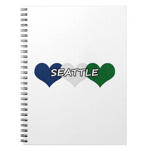 Corazón de Seattle Libretas