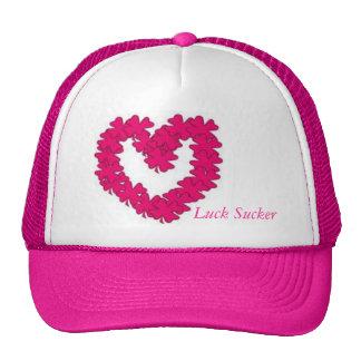 Corazón de señora Luck Sucker Pink Clover Gorras De Camionero