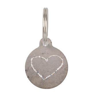 Corazón de Shell de la playa Identificador Para Mascotas
