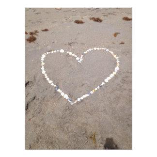 Corazón de Shell de la playa Fotografía