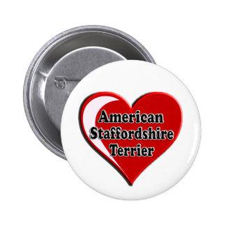 Corazón de Staffordshire Terrier americano Pin