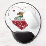 corazón de Stanford de la bandera de California ap Alfombrillas Con Gel