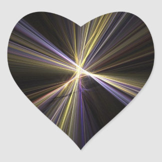 Corazón de Starburst Calcomania Corazon Personalizadas