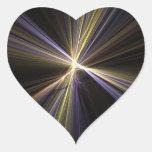 Corazón de Starburst Pegatina En Forma De Corazón