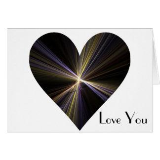 Corazón de Starburst Tarjeta De Felicitación