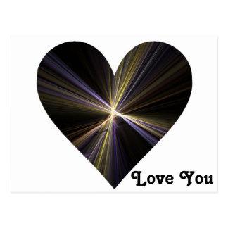 Corazón de Starburst Postales