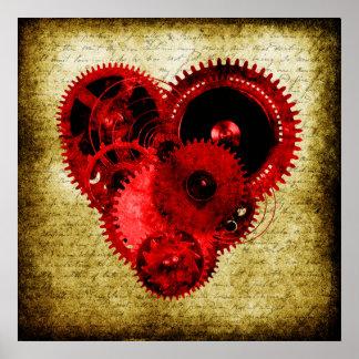 Corazón de Steampunk del vintage