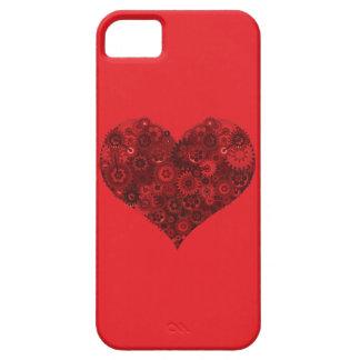 Corazón de Steampunk en rojo iPhone 5 Cárcasa