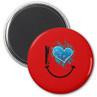 Corazón de T Imán Redondo 5 Cm